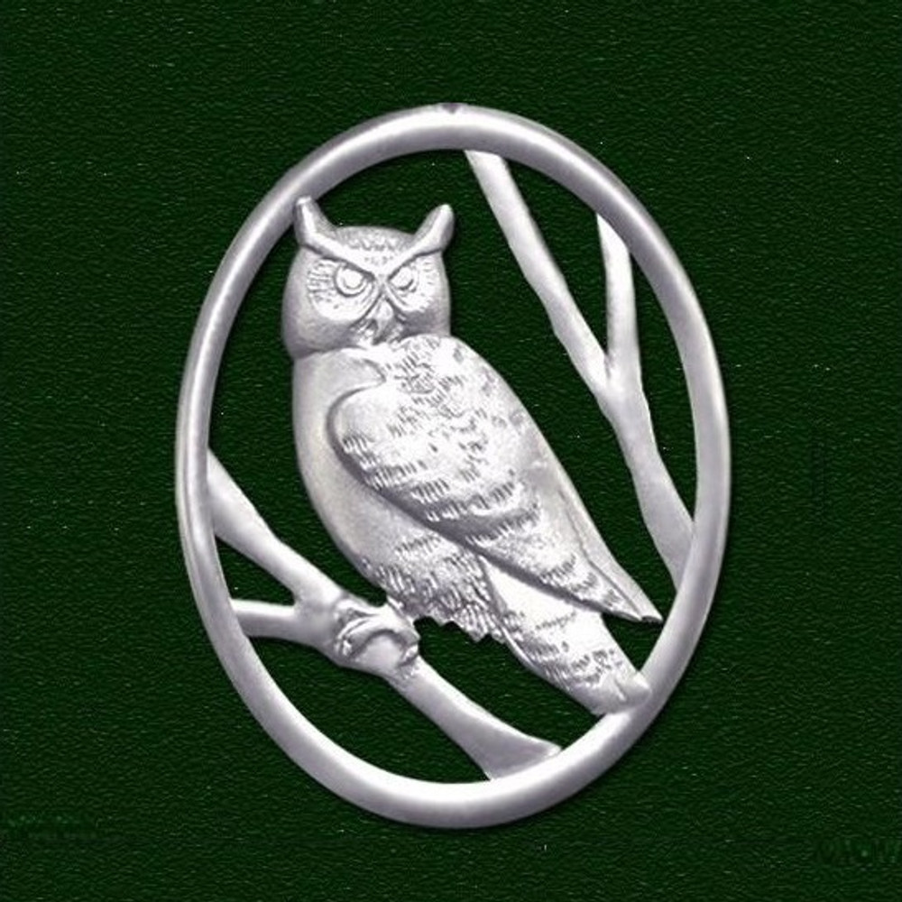 Owl Pewter Pin   Lovell Designs Jewelry   LOVP218PN