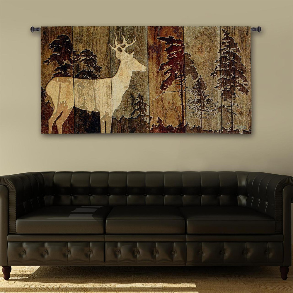 Deer Tapestry Wall Hanging Woodburn Lodge Pure Country