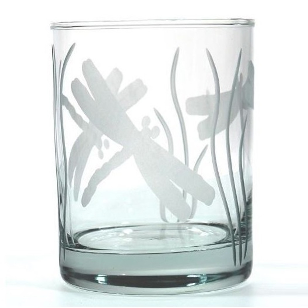 Dragonfly Double Old Fashioned Glass Set of 4 | Rolf Glass | ROL206004 -2