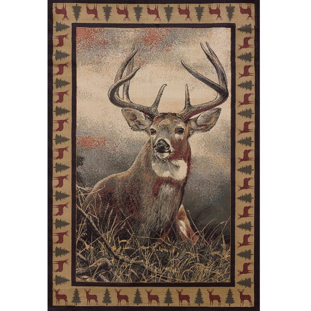 Majestic White Tail Deer Rug