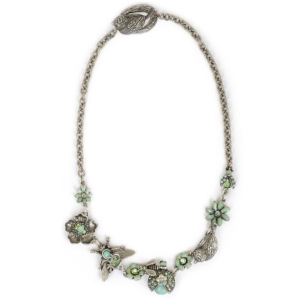 Birds, Bees, and Flowers Necklace   La Contessa Jewelry   Mary DeMarco   NK9310POAB