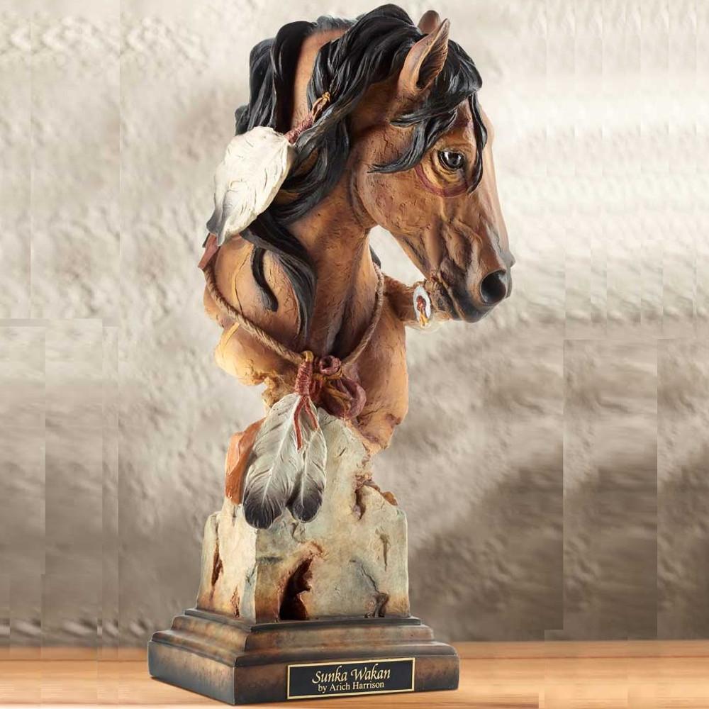 "Horse Sculpture ""Sunka Wakan"" War Pony | Mill Creek Studios | 6567444681 -2"
