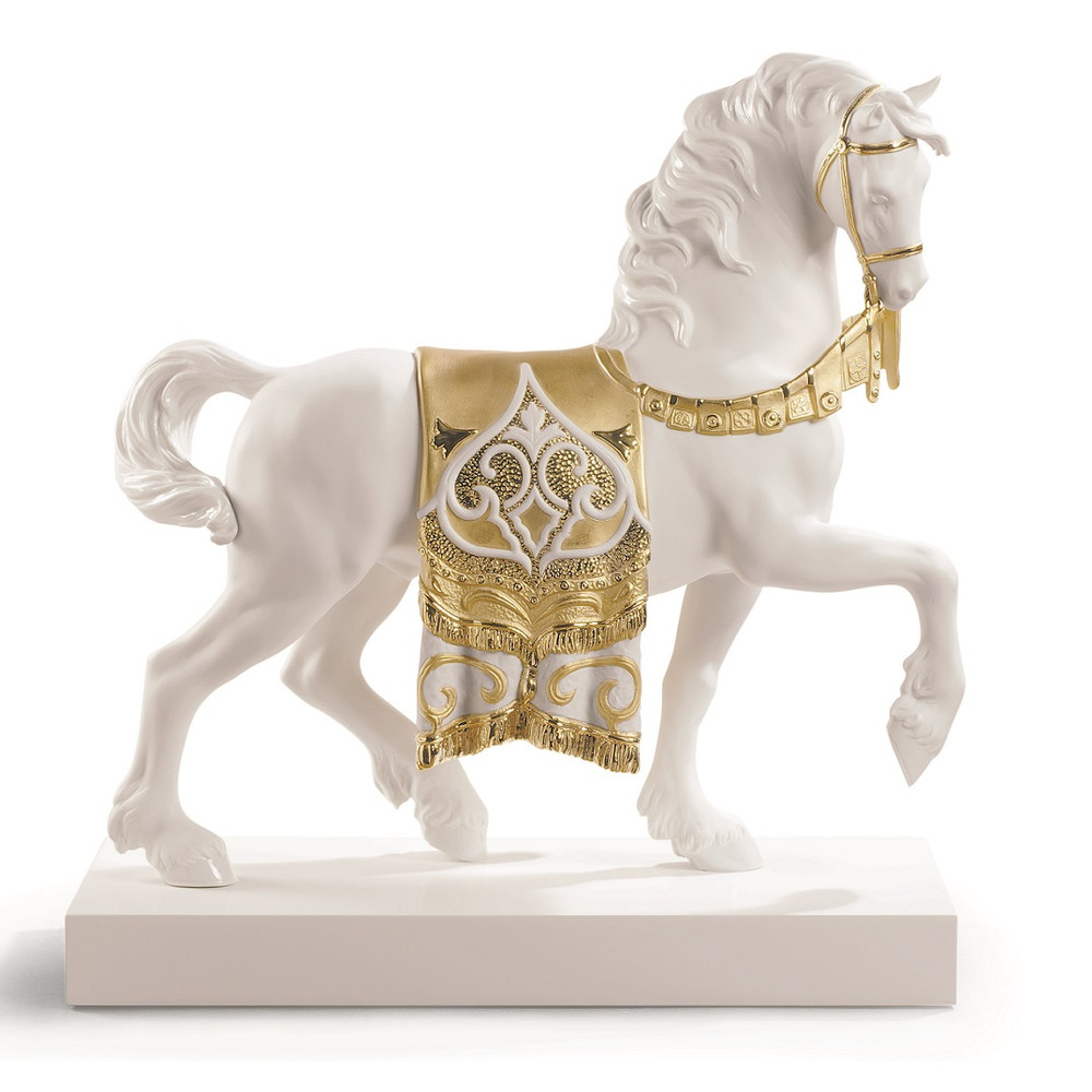"Horse Porcelain Figurine ""A Regal Steed"" 