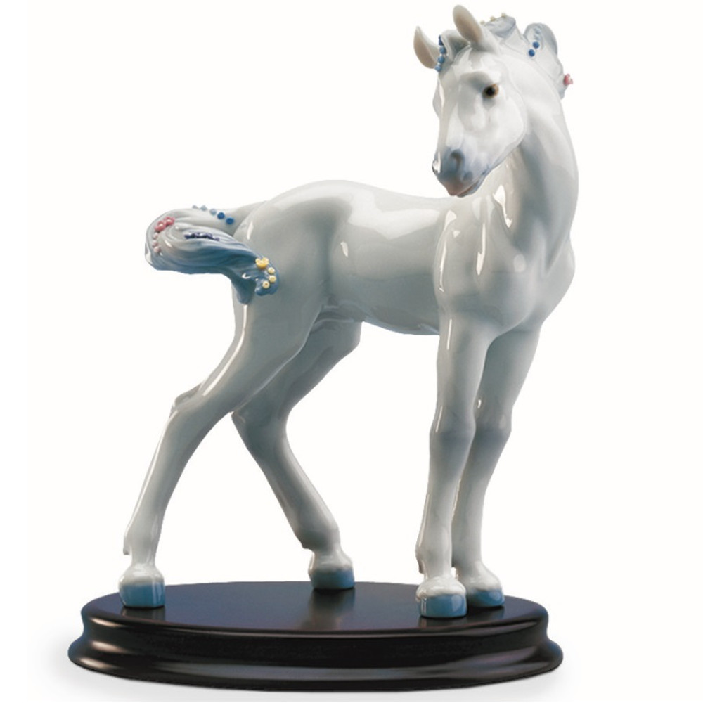 Horse Porcelain Figurine with Base