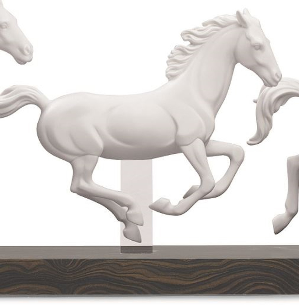 "Horse Porcelain Figurine "" Galloping Herd "" 