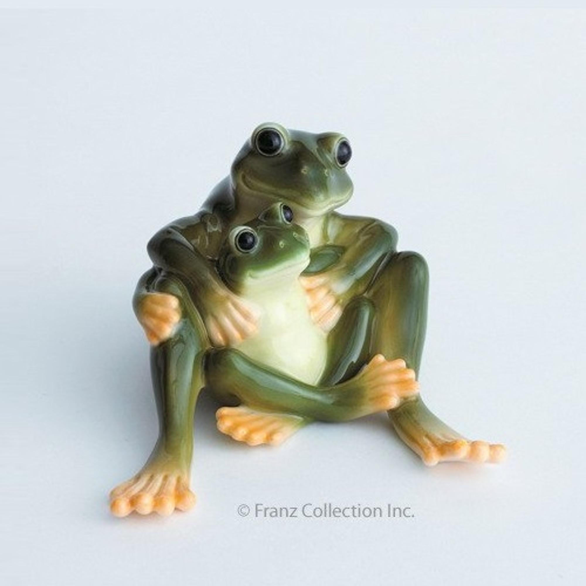 Frog Figurine Sculpture Franz Collection Porcelain