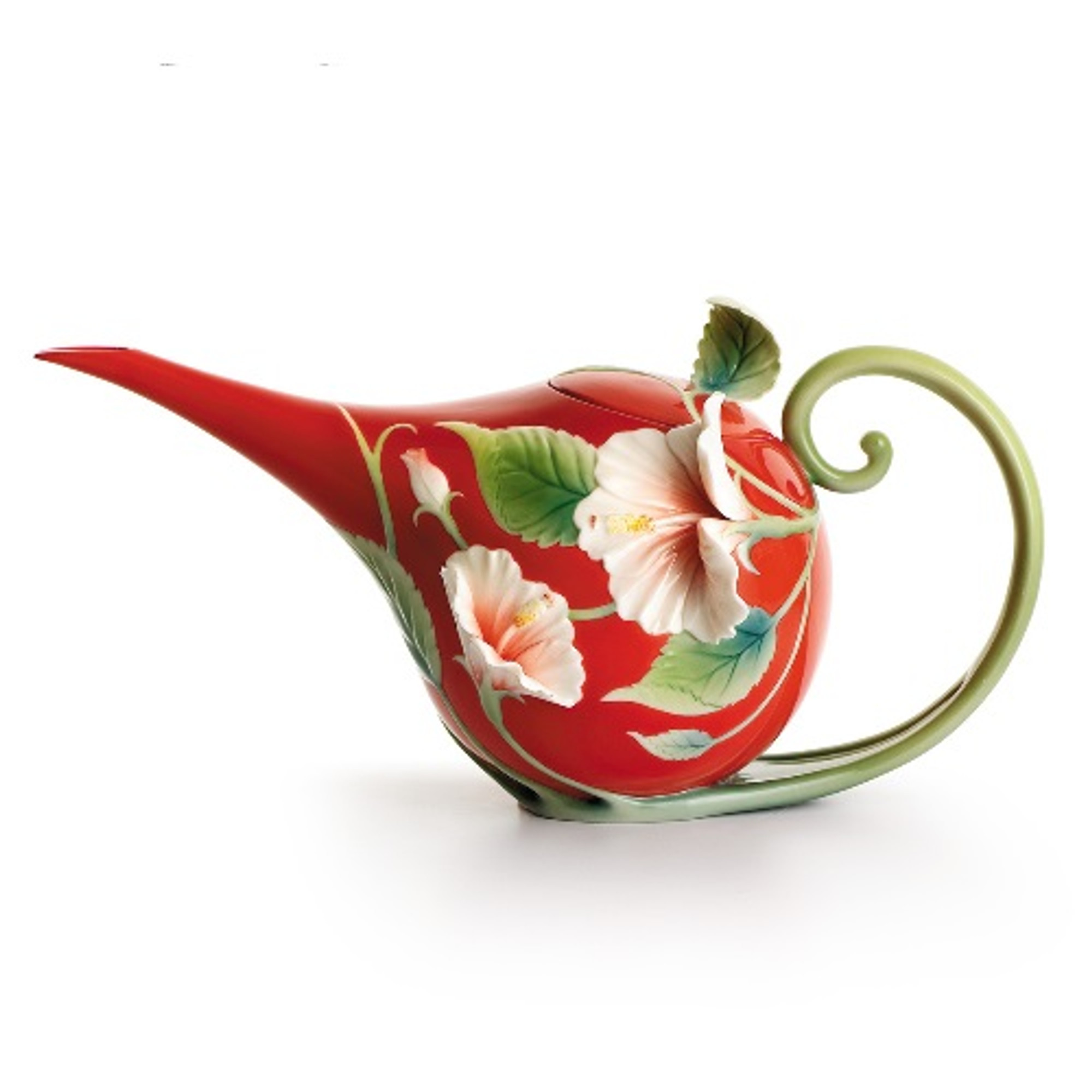 Hibiscus Teapot Franz Collection Porcelain