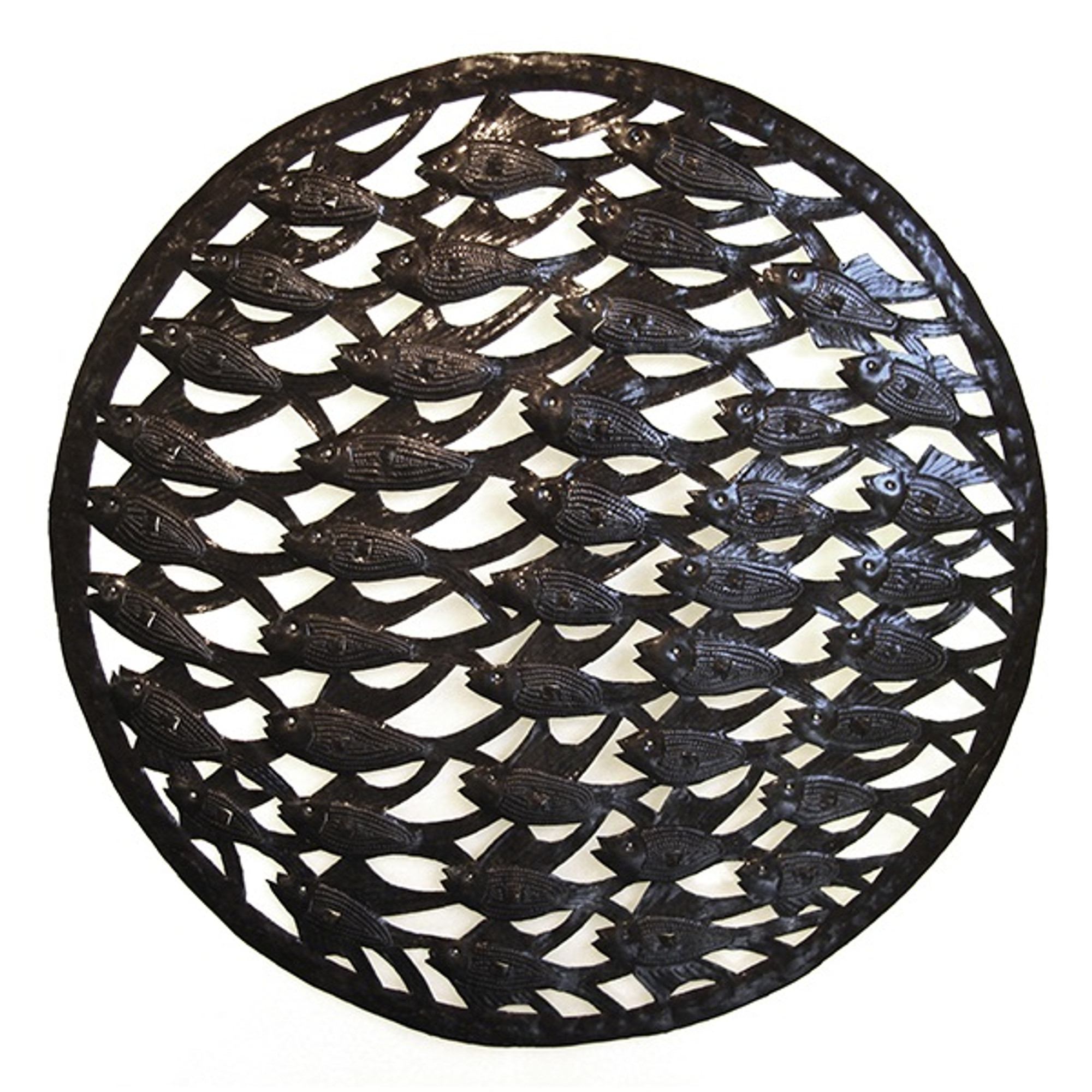 School of fish metal wall scuplture fish outdoor decor for School of fish metal wall art