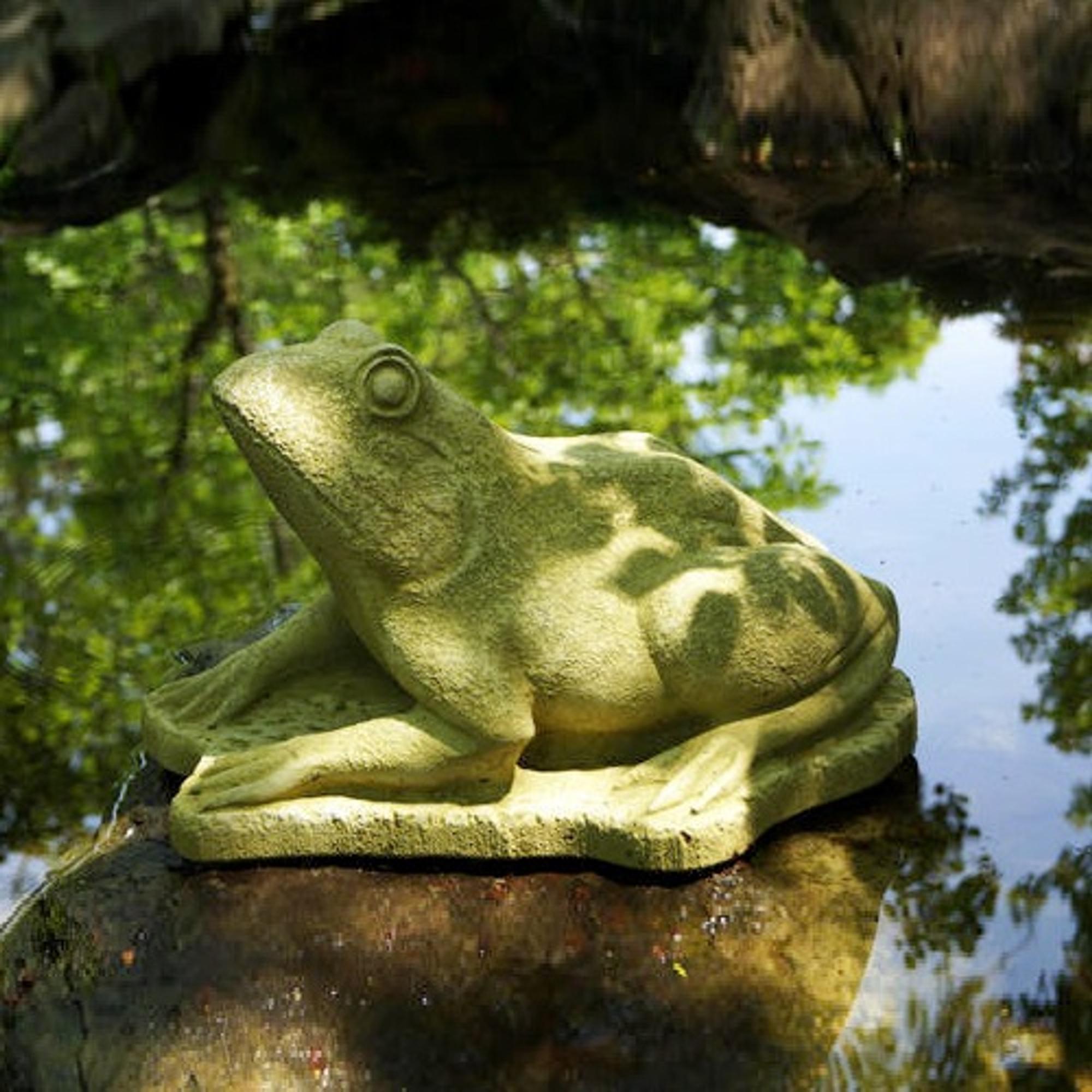 Frog Concrete Outdoor Garden Statue Frog Henri Studio