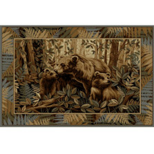 Bear and Cubs Wilderness Area Rug