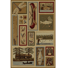 Cabin and Lodge Wilderness Area Rug