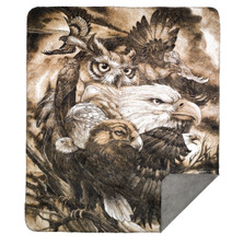 "Eagle and Owl Throw Blanket ""Sky Kings"""