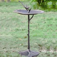 Bird on Branch Sundial Birdbath | 33348