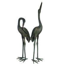Crane Pair Bronze Statues