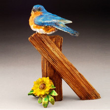 "Bluebird Bronze Sculpture ""Baby Blue"""