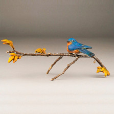 "Bluebird Bronze Sculpture ""Blue Skies"" 