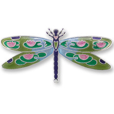 Dragonfly Montage Silver Plated Pin | Nature Jewelry