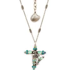 Mermaid Cross Necklace | Nature Jewelry