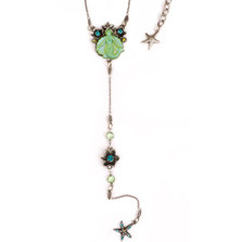 Mermaid Glass Y Necklace | Nature Jewelry