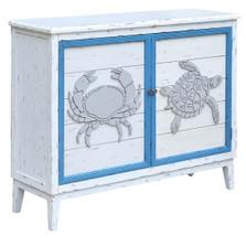 Crab and Turtle 2 Door Cabinet