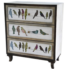 Birds on a Wire 3 Drawer Chest
