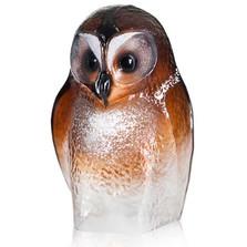 Owl Brown Crystal Sculpture | 34245