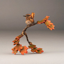"Bird and Branch Bronze Sculpture ""Morning Breaks"" 