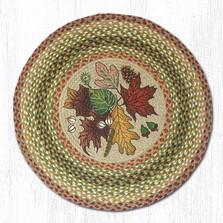 Autumn Leaves Round Braided Rug