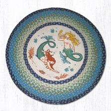 Mermaids Round Braided Rug | Capitol Earth Rugs | RP-386
