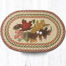 Autumn Leaves Oval Braided Rug