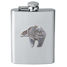 Bear Tribal Design Flask