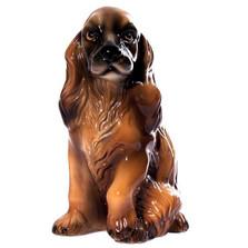 Brown Cocker Spaniel Ceramic Dog Sculpture