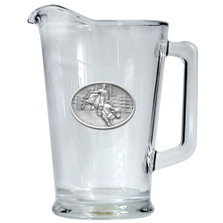 Bullrider Cowboy Beer Pitcher