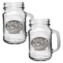 Bald Eagle USA Mason Jar Mug Set of 2