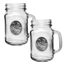 Caribou Mason Jar Mug Set of 2
