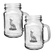 Coyote Mason Jar Mug Set of 2