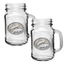 Dolphin Mason Jar Mug Set of 2