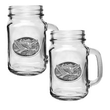 Eagle Mason Jar Mug Set of 2