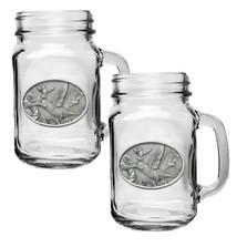 Hummingbird Mason Jar Mug Set of 2 | Heritage Pewter | HPIMJM134