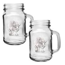 Pig Mason Jar Mug Set of 2