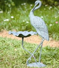 Crane Birdbath | 33086