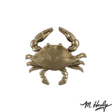 Blue Crab Nickel Silver Door Knocker