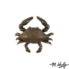 Blue Crab Oiled Bronze Door Knocker