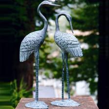 Crane Sculpture Love Pair   BP15362