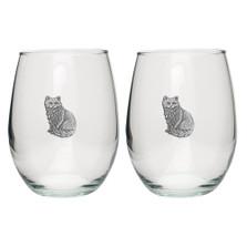 Cat Stemless Goblet Set of 2