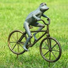 Frog on Bicycle Garden Sculpture | 33810
