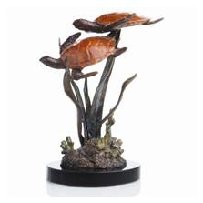 "Sea Turtle Duo Sculpture ""Lagoon Encounter""   80081"