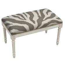 Zebra Linen Bench
