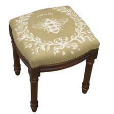 Bee French Linen Vanity Stool