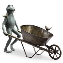 Frog and Wheelbarrow Garden Planter | 34146